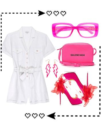 Neon pink chic
