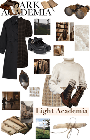 light and dark academia!