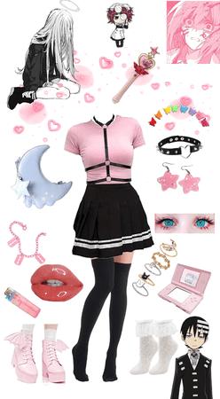 pastel anime girl
