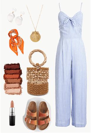 summer coral orange blue