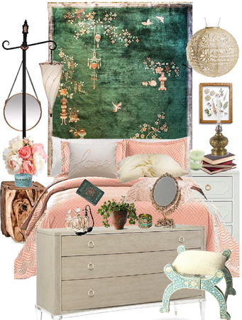 Jade & Blush Bedroom