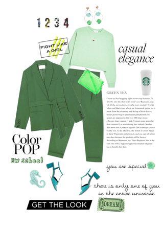 Green School Outfit