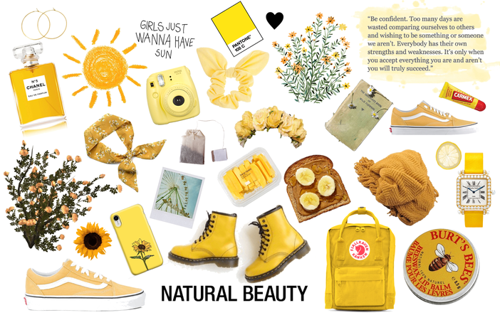 yellow is for natural beauty