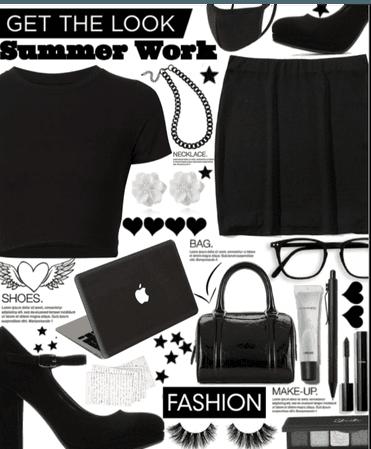 A Black summer work day