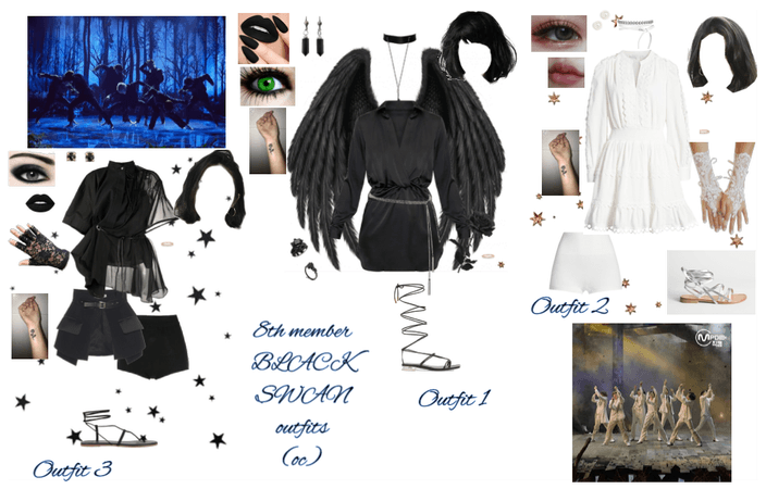 BLACK SWAN outfits (8th member oc) BTS