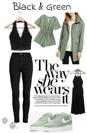 green&black 💚🖤