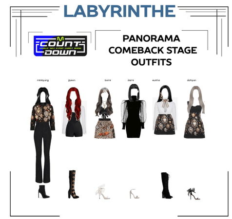 LABYRINTHE PANORAMA comeback stage outfits