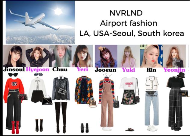 NVRLND Airport fashion LA, USA-Seoul, South Korea