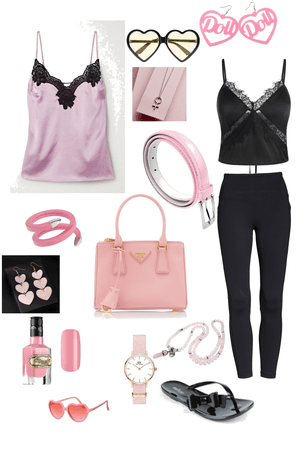 Pink bag . Pink black