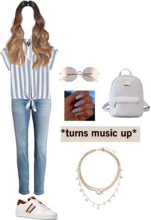 Stripe Shirt Friday Fashion