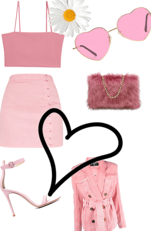 party/club pink outfit