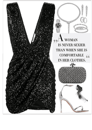 An elegant night look with a Precious jewelry