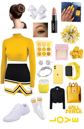 yellow cheer outfit ;)