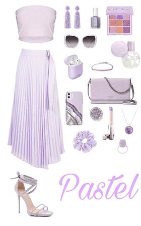 Muted Pastels Look: Lavender