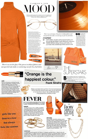 peachy orange.
