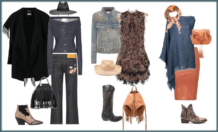 джинс с элементами Western
