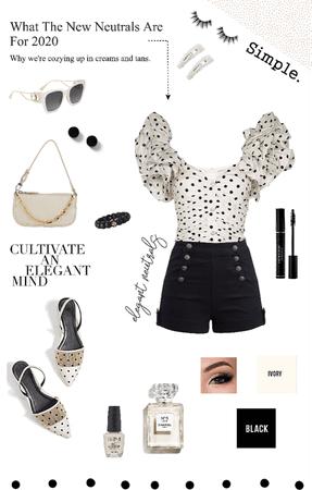 Summer Neutrals: Black & Ivory