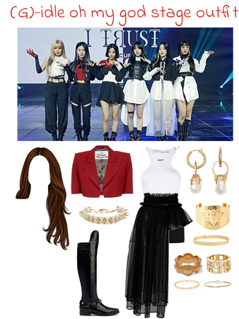 (g)-idle oh my god stage outfit