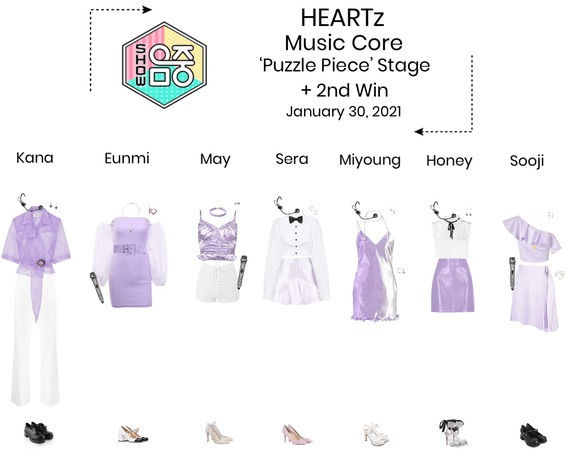 HEARTz//'Puzzle Piece' Music Core Stage + 2nd Win