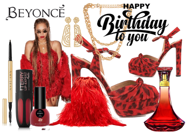 Beyonce Red Happy Birthday