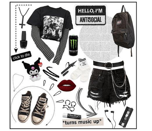 Back to school: grunge aesthetics