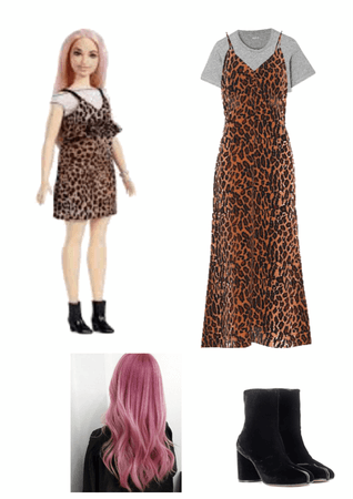 leopard print barbie