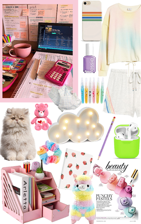 🌈 Colorful school at home