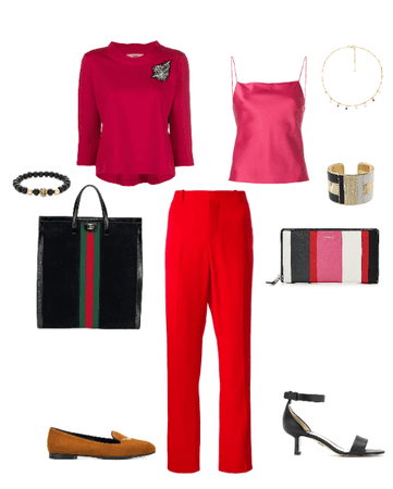 red trouser combination 4