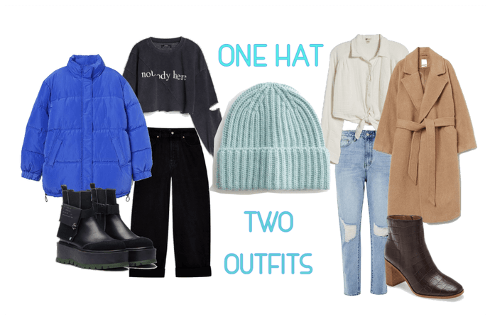 One hat two outfits