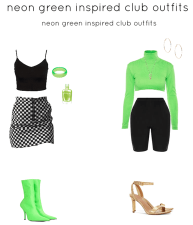 neon green inspired club outfits