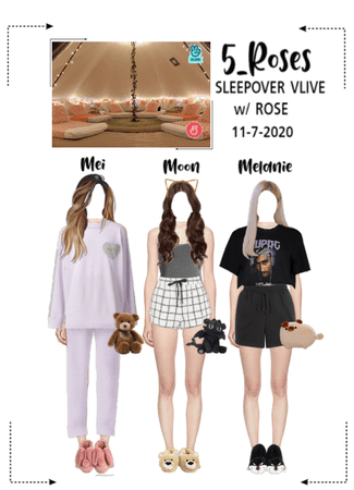 5ROSES Sleepover Vlive app Update  w/ ROSE