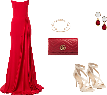 Red Glam Outfit