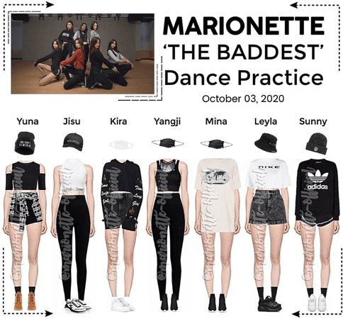 MARIONETTE (마리오네트) 'THE BADDEST' Dance Practice