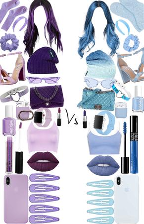 purple 💜or blue💙