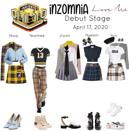 INZOMNIA 'Love Me' Debut Live Stage on Inkigayo Outfits 04.20