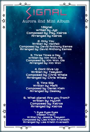 Aurora Signal Tracklist