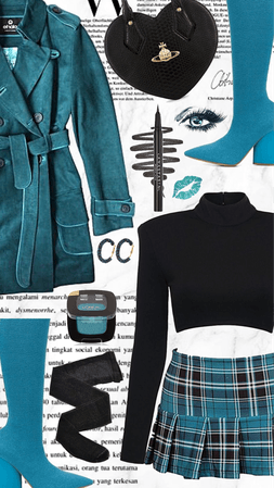 Teal Knee High Boots