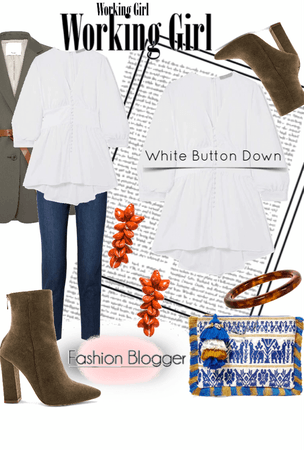 white Button Down