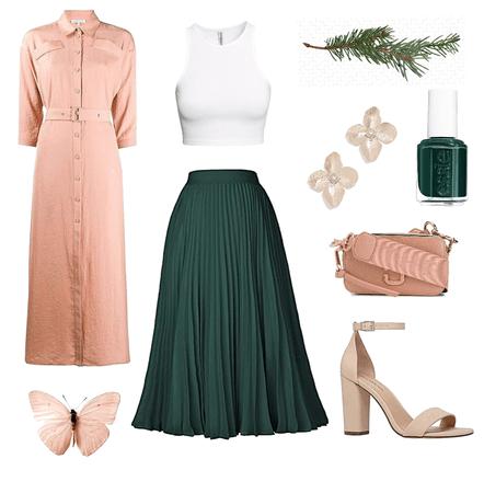 peach and pine