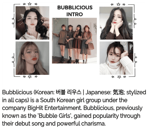 Bubblicious (신기한) Group Intro