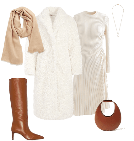 white classic outfit