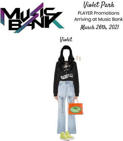 Violet Park | PLAYER | Arriving at Music Bank