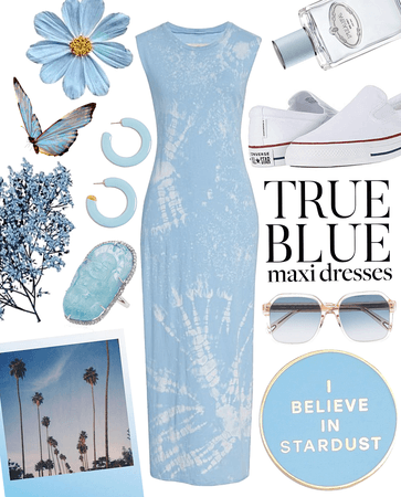 true blue tee dress