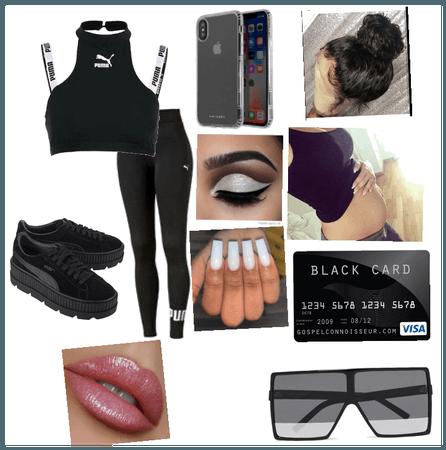 Black fit #Puma fit 💋🖤