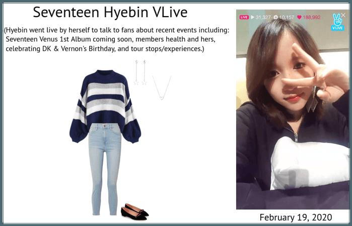 Seventeen Hyebin Solo Vlive