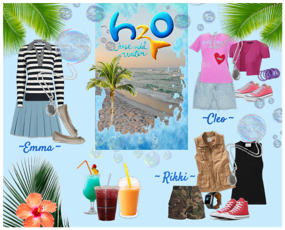 H20 - just add water, the girls typical outfits