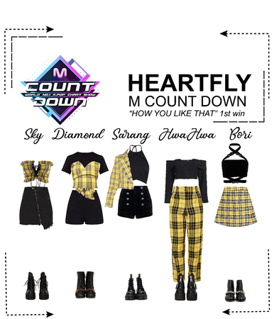 """HEARTFLY (하트플라이요) M COUNT DOWN """"HOW YPU LIKE THAT"""" 1ST WIN"""