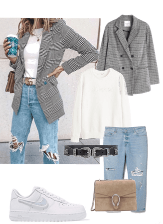 casual check outfit