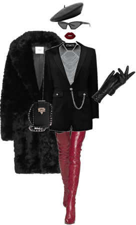red and black elegance