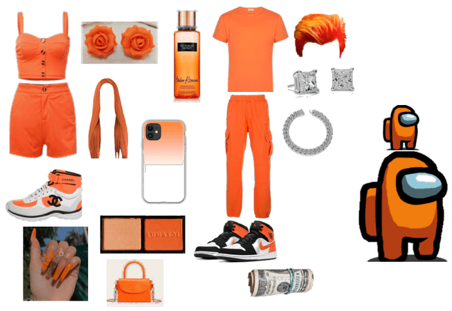 orange date outfit